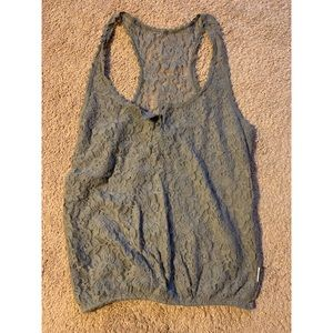 Gilly Hicks Grey Lace sleeveless top size M
